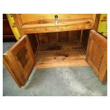 11 - SOLID WOOD ACCENT TABLE W/ STORAGE