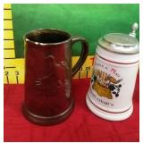 68 - 4 COLLECTIBLE BEER STEINS