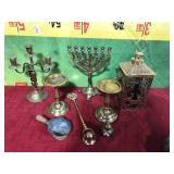 68 - HOME DECOR ITEMS INCLUDES CANDLEABRA