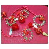 43 - NEW WMC LARGE LOT OF RED ORNAMENTS