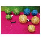43 - WMC NEW GLITTERED BALL ORNAMENTS