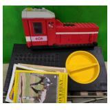 N - BOX OF TOY TRAIN TRACKS