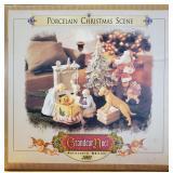 N - PORCELAIN CHRISTMAS SCENE
