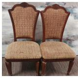 11 - PAIR OF UPHOLSTERED DINING CHAIRS