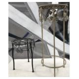 11 - PAIR OF METAL PLANT STANDS