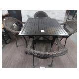 11 - NICE PATIO TABLE & 4 CHAIRS SET