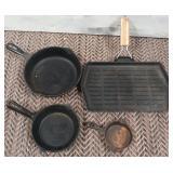 11 - LOT OF 4 CAST IRON PANS