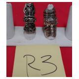 11 - 2 CUSTOM MADE COSTUME JEWELRY RINGS (R3)
