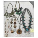 174 - LOT OF 6 INTERESTING NECKLACES (K)