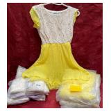 152 - NEW YELLOW & PURPLE 12PC DRESSES (10)