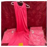 152 - NEW LOT OF 9PCS LG HOT PINK DRESSES (11)