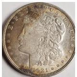 1921 - MORGAN SILVER DOLLAR (19)