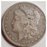 """1884 """"O"""" - MORGAN SILVER DOLLAR (14)"""