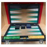 N - BACKGAMMON GAME SET IN CARRY CASE