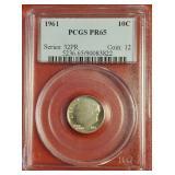 (1) - 1961 PCGS PR 65 DIME COIN