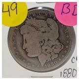 "1880 ""CC"" - MORGAN SILVER DOLLAR (49)"