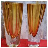 """177 - PAIR OF FIFTH AVENUE CRYSTAL VASES 10""""H"""