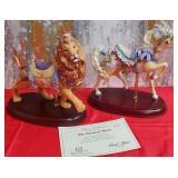 N - LENOX CAROUSEL LION & HORSE