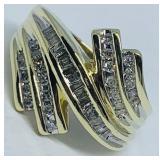 10KT YELLOW GOLD .45CTS DIAMOND RING