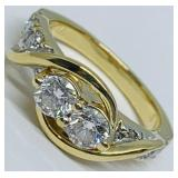 14KT YELLOW GOLD 1.60CTS DIAMOND RING FEATURES