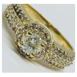 14KT YELLOW GOLD 1.23CTS DIAMOND RING FEATURES