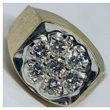 14KT YELLOW GOLD 1.05CTS MENS DIAMOND RING