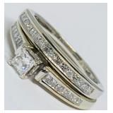 14KT WHITE GOLD  1.08CTS DIAMOND RING