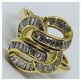 18KT YELLOW GOLD 1.10 CTS DIAMOND RING