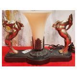 "177 - ART DECO TABLE LAMP 8.5""X11"""