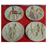 177 - LOT OF 4 BEAUTIFUL COLLECTOR PLATES