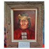 """D - ANTIQUE INDIAN PAINTING BY ECONN 24""""X20"""""""