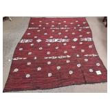 """11 - RED AREA RUG 93""""X65"""" (A)"""