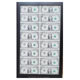 S - FRAMED US COLLECTOR CURRENCY