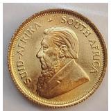 (G1) - 1982 GOLD 1/10 KRUGERRAND GOLD COIN