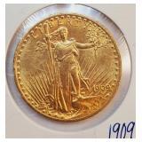 (G1) - 1909 $20 GOLD COIN