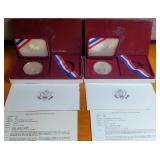 (87) - 1983 OLYMPIC SILVER DOLLAR PROOFS