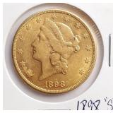 "(G10) - 1898 ""S"" $20 COIN"