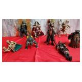 777 - LOT OF 9 FANTASY ACTION FIGURES
