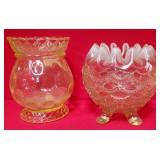 11 - VINTAGE VASELINE GLASS BOWLS