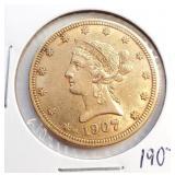 (G11) - 1907 $10 GOLD COIN