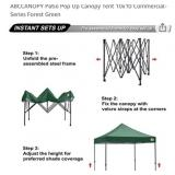 NEW PATIO POP UP GREEN CANOPY 10X10