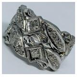 14KT WHITE GOLD .75CTS DIAMOND RING 11.60 GRS