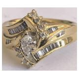 14KT YELLOW GOLD DIAMOND RING FEATURES