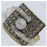 14KT YELLOW GOLD 1.84CTS DIAMOND RING
