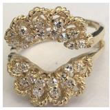 14KT YELLOW GOLD DIAMOND RING GARD 7.60 GRS