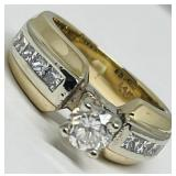 14KT YELLOW GOLD 1.50CTS DIAMOND RING FEATURES