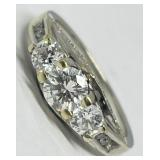 14KT WHITE GOLD 1.48CTS DIAMOND RING FEATURES
