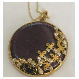 10KT GOLD PENDANT WITH DIAMONDS 9.40 GRS