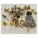 14KT GOLD BIG MIX OF EARRINGS AND PENDANT 8.80 GRS