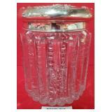 63 - STERLING SILVER & CRYSTAL CANDY JAR
